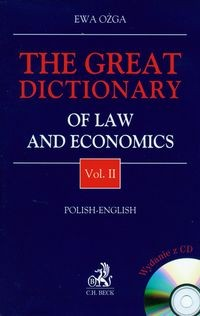 Zobacz książkę The great dictionary of law and economic vol.2 with CD w Księgarni Internetowej Grzbiet.pl